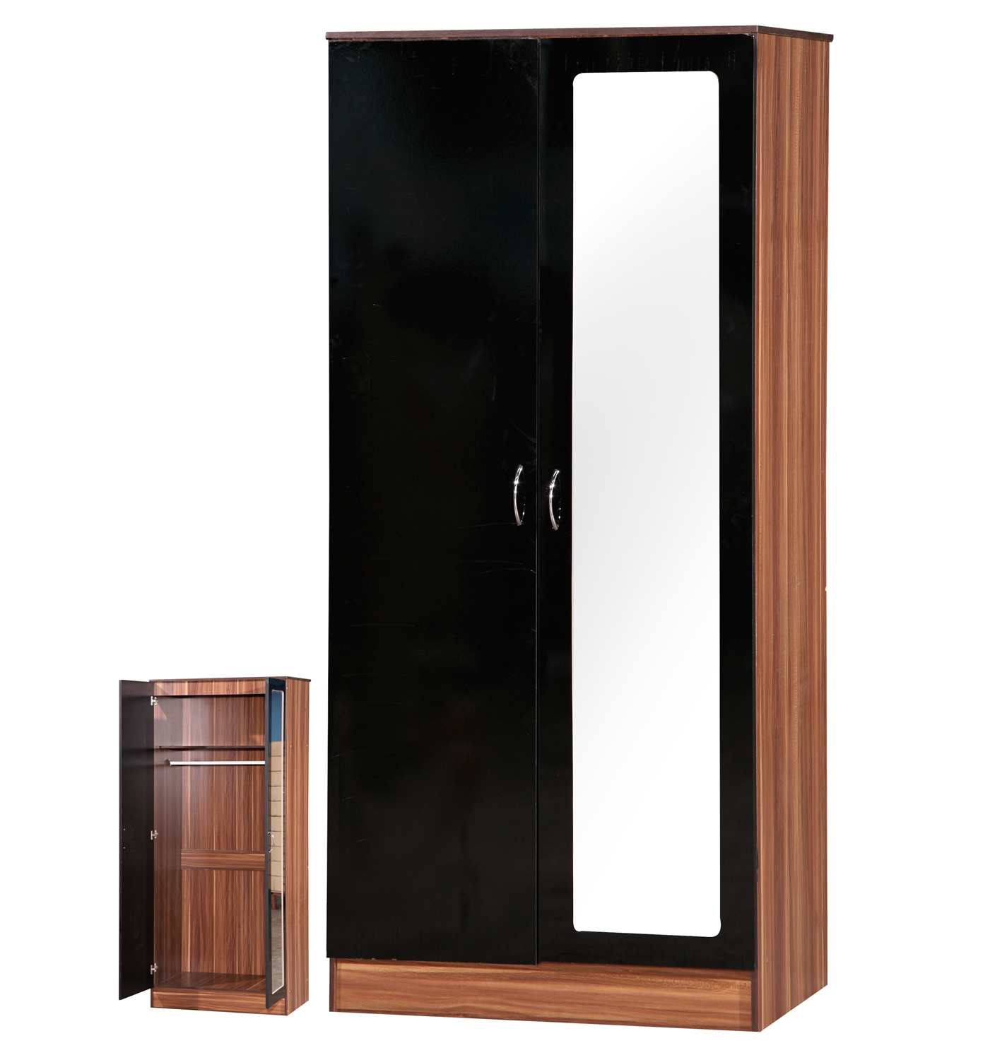Picture of Two Door Mirrored Wardrobes
