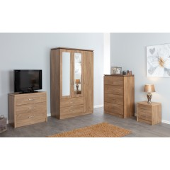 Oak Chest of 3 Drawers
