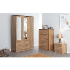 Kinsbury Oak 2 Drawer Bedside