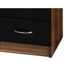 Alpha Black Gloss & Walnut Dressing Table