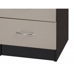 Alpha Grey Gloss & Black Dressing Table