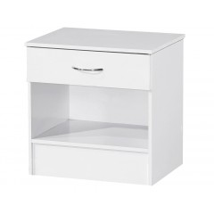 Alpha White Gloss Two Tone 1 Drawer Bedside