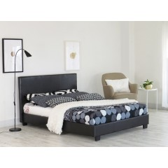 Lyon Black 4ft Double Bed