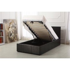 Boston Black 3ft Ottoman Storage Bed