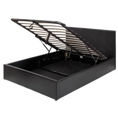Boston Black 4ft6 Ottoman Storage Bed