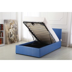 Boston Blue 3ft Ottoman Storage Bed