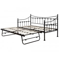 Jasmine Black Daybed With Trundle