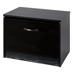 Marina Black Gloss Two Tone Ottoman Storage