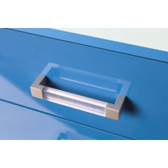 Marina Blue Gloss Two Tone Chest Of 3 Drawer