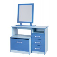 Marina Blue Gloss Two Tone Dressing Table