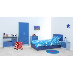 Marina Blue Gloss Two Tone Ottoman Storage
