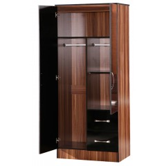Marina Black Gloss & Walnut 5 Piece Set
