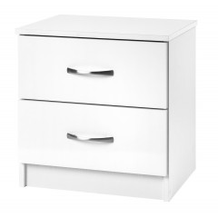 Marina White Gloss Two Tone 2 Drawer Bedside