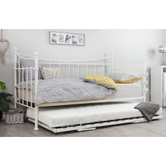 Jasmine White Daybed With Trundle