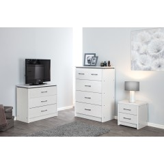 Kinsbury White Ash Chest of 3 Drawers