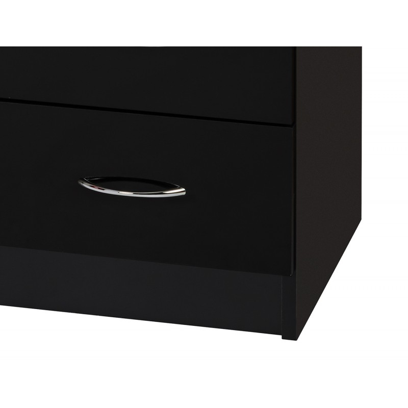 Alpha Black Gloss Two Tone Dressing Table Ark Furniture - Black gloss dressing table