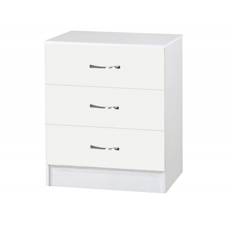 Marina White Gloss Two Tone Chest Of 3 Drawer