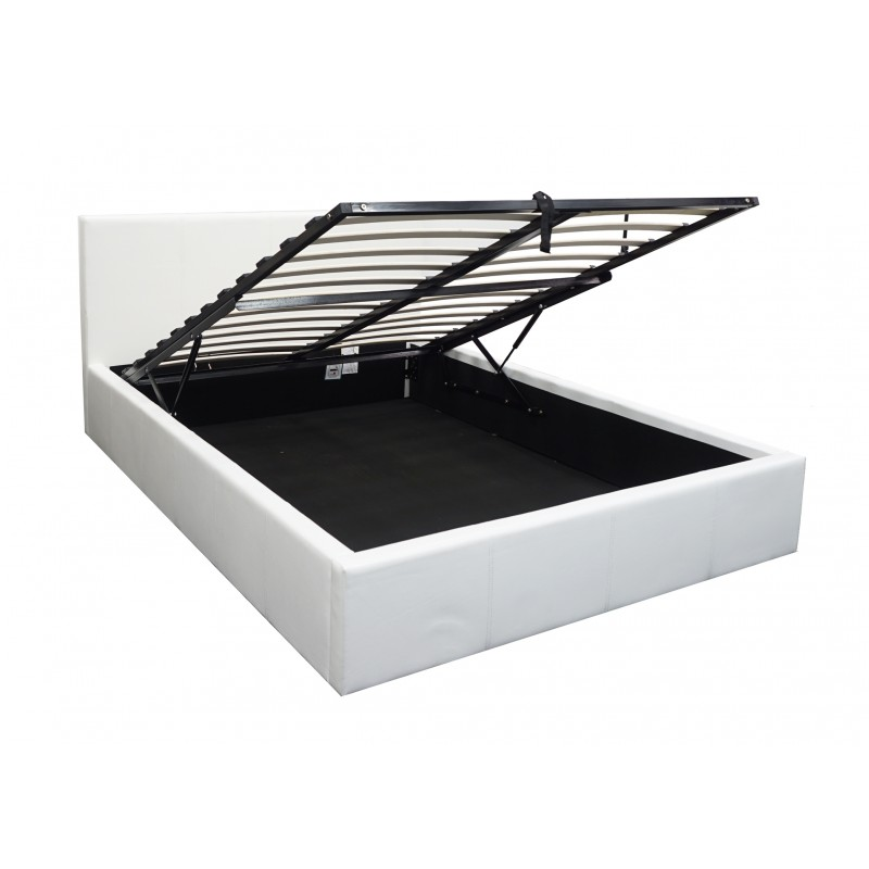Boston White 5ft Ottoman Storage Bed