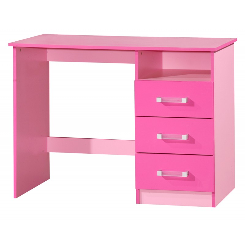 Marina pink gloss two tone dressing table ark furniture