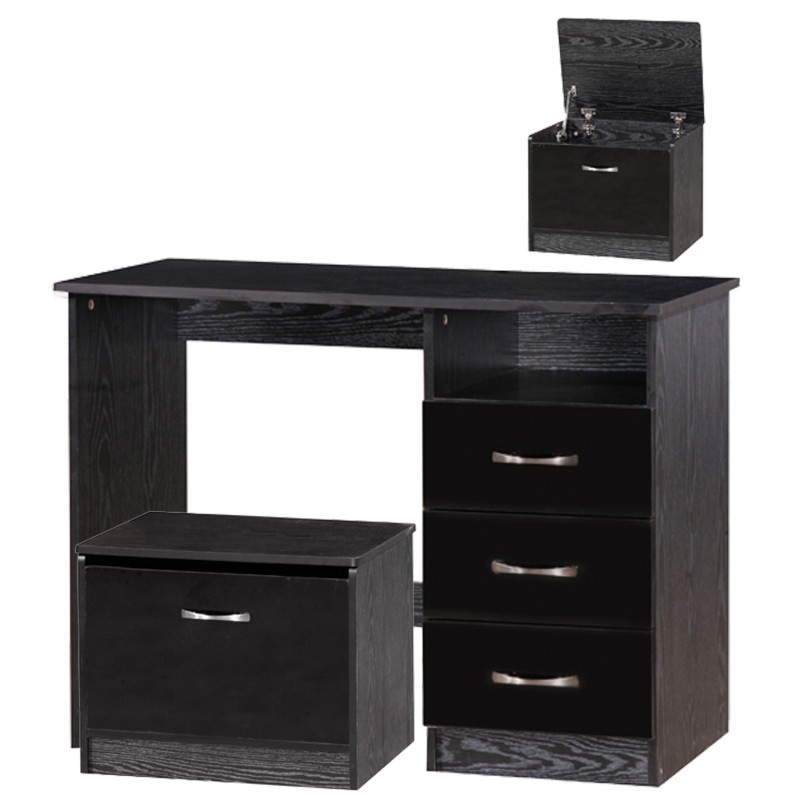 Marina Black Gloss Two Tone Dressing Table