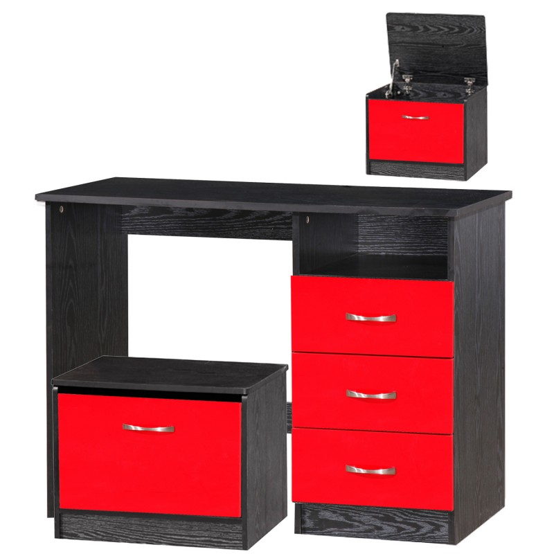 Marina Red Gloss & Black Dressing Table