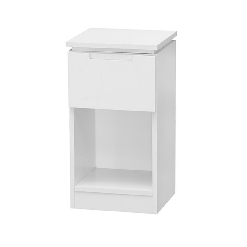 Orb White 1 Drawer Lamp Table Unit