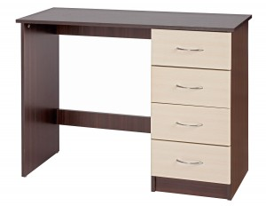 Alpha Creme Gloss & Walnut Dressing Table