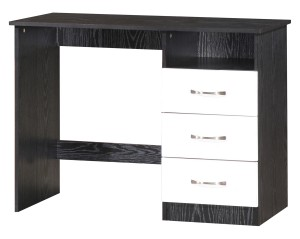 Marina White Gloss U0026 Black Dressing Table