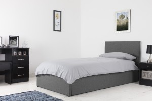 Boston Grey 3ft Ottoman Fabric Bed