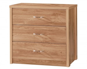 Holland Oak 3 Drawer Chest