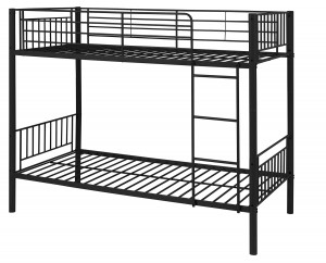 Montreal Black Single Bunk Bed