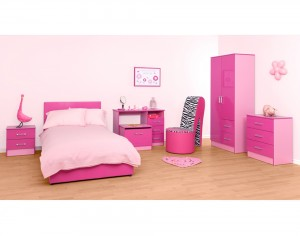 Marina Pink Gloss Two Tone 5 Piece Set