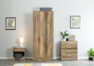 Nebula Natural Oak Grained Matte 3 Piece Set