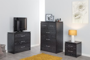 Kinsbury Black Chest of 3+2 Drawers