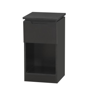 Orb Black 1 Drawer Lamp Table Unit